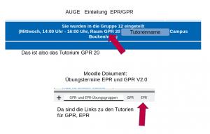 Abbildung Beispiel für Gruppeneinteilung AUGE